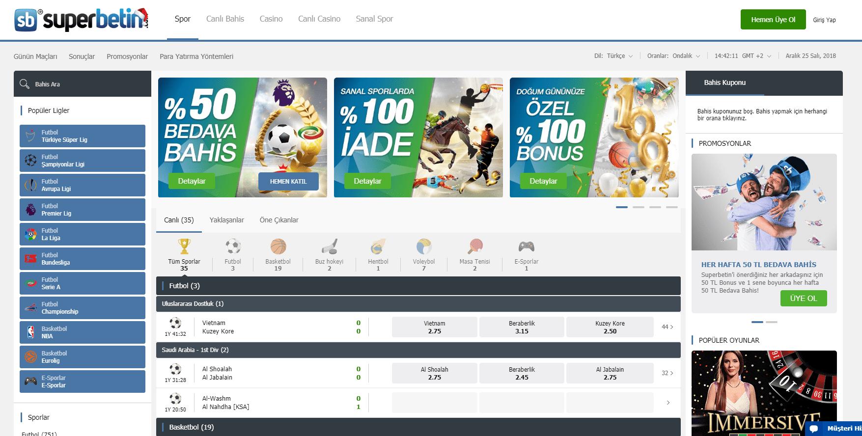 Superbetin.com: Canlı casino