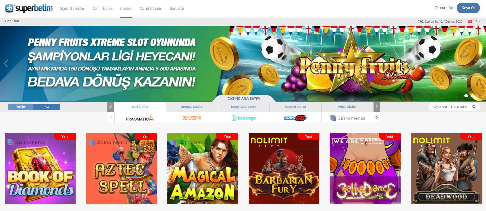 Superbetin Casino Oyunları